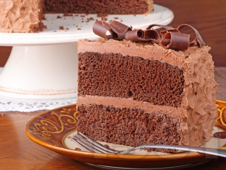 Шоколадова торта със сметана и какао - снимка на рецептата